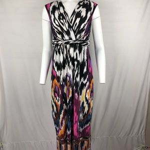 Chico's Maxi Dress Size 1 Multi-color print
